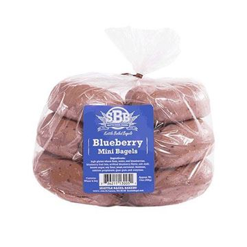 Seattle Bagel Bakery Mini Blueberry Bagels - 6-pk