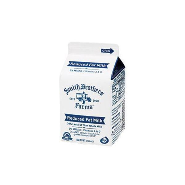 Shop For Reduced Fat 2 Milk Half Pint From Smith Brothers