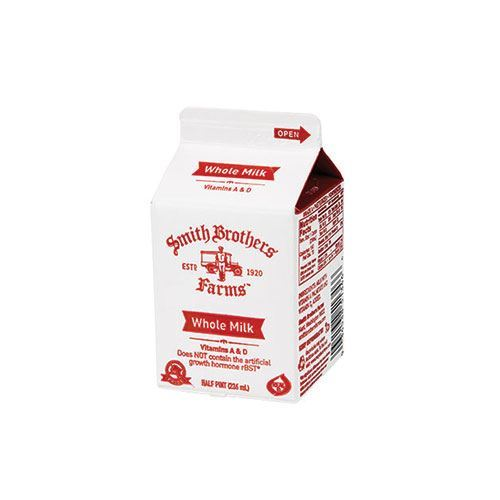 Buy Whole Milk Half Pint From Smith Brothers Farms In The