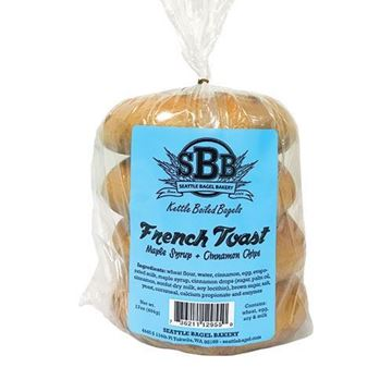 Seattle Bagel Bakery French Toast Bagel - 4-pk