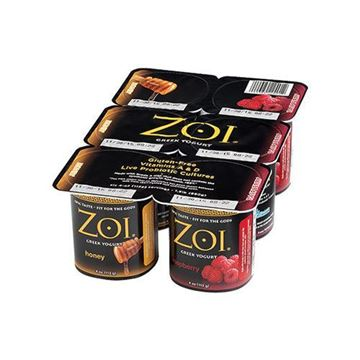 Zoi Honey/Raspberry Greek Yogurt - 6-pk