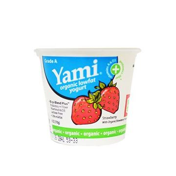 Yami Organic Strawberry Yogurt - 6 oz.