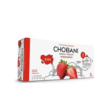 Chobani Kids Yogurt Tubes Strawberry - 8-pk.
