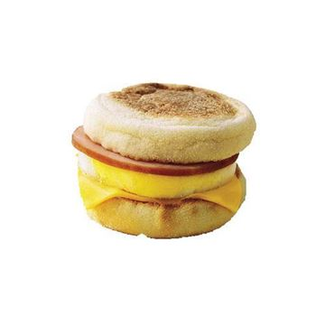 Seattle Bagel Bakery Ham Egg & CheeseEnglish Muffin Breakfast Sandwich