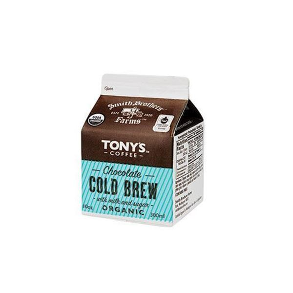 Tony's Organic Cold Brew Coffee + Chocolate Milk - 10 oz.