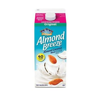 Almond Breeze Unsweetened Coconut Almond Milk - Half Gallon