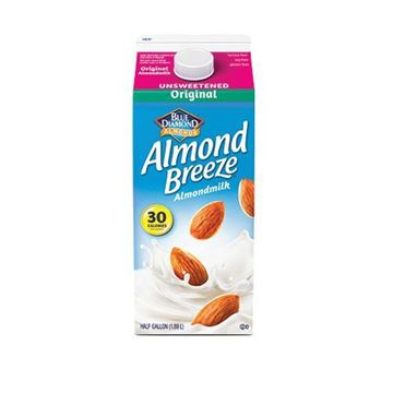 Almond Breeze Unsweetened Original Almond Milk - Half Gallon