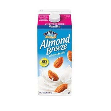 Almond Breeze Unsweetened Vanilla Almond Milk - Half Gallon