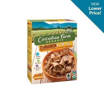 Cascadian Farm Cinnamon Crunch Cereal - 9.2