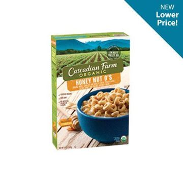 Cascadian Farm Honey Nut O's Cereal - 9.5 oz