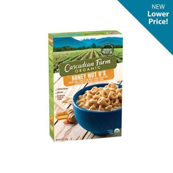 Cascadian Farm Honey Nut O's Cereal - 9.5 oz