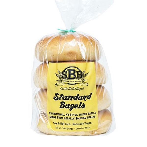 Seattle Bagel Bakery Standard Bagels - 4-pk