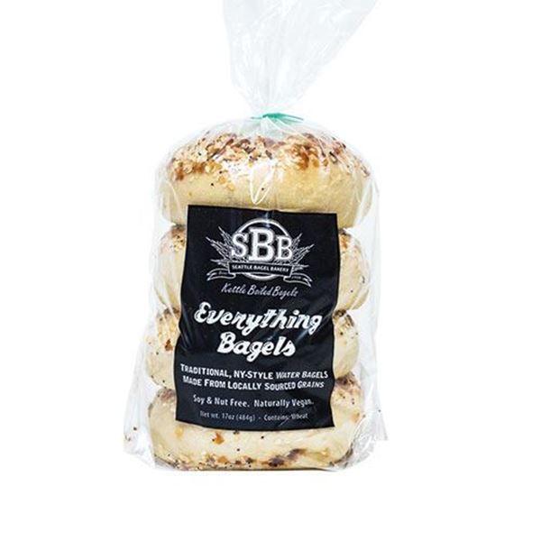 Seattle Bagel Bakery Everything Bagels - 4-pk