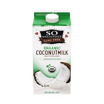 So Delicious Organic Unsweetened Coconutmilk - Half Gallon