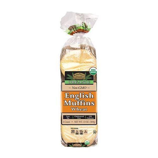 Alpine Valley Organic Wheat English Muffins - 6-pk