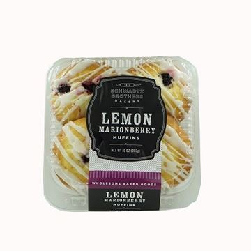 Schwartz Brothers Bakery Lemon Marionberry Muffins - 4-pk