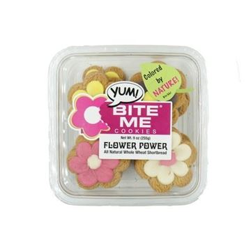 Bite Me Whole Wheat Shortbread Flower Cookies - 9 oz.