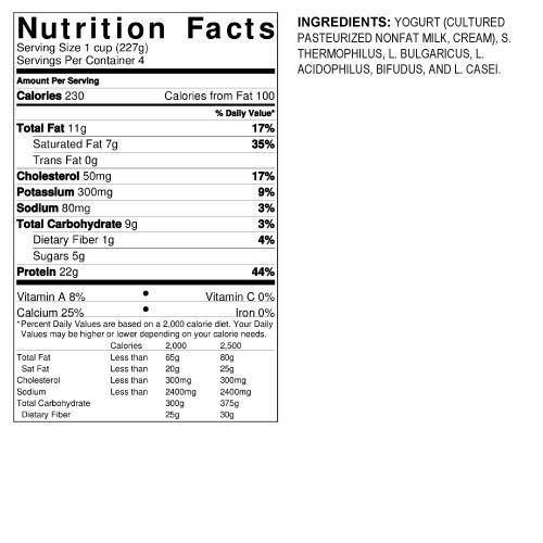 Chobani Plain 5% Greek Yogurt 32 oz