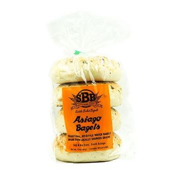 Seattle Bagel Bakery Asiago Cheese Bagels - 4-pk