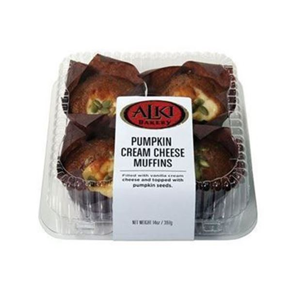 Alki Bakery Pumpkin Cream Cheese Muffins - 4 pk.