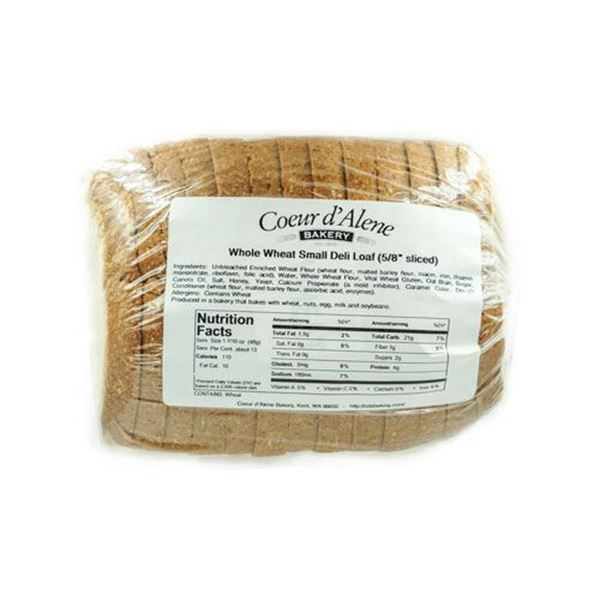 Coeur d'Alene Bakery Whole Wheat Bread - 22 oz.