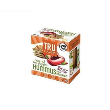 Tru Flavors Roasted Red Pepper Hummus & Crackers - 2.5 oz.