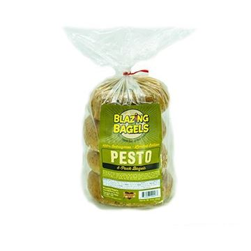 Blazing Bagels Pesto Bagels - 4-pk.