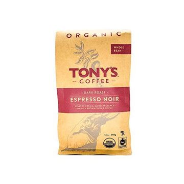 Tony's Espresso Noir Organic Whole Bean Coffee - 12 oz.