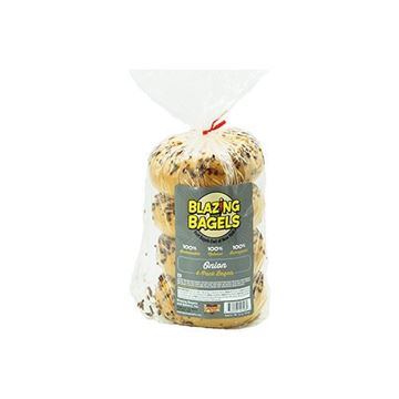 Blazing Bagels Onion Bagels - 4 pk.