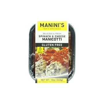 Manini's Heat & Serve Gluten-Free Manicotti - 12 oz.