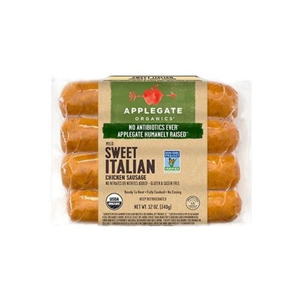 Applegate Naturals Organic Sweet Italian Chicken Sausages - 12 oz.