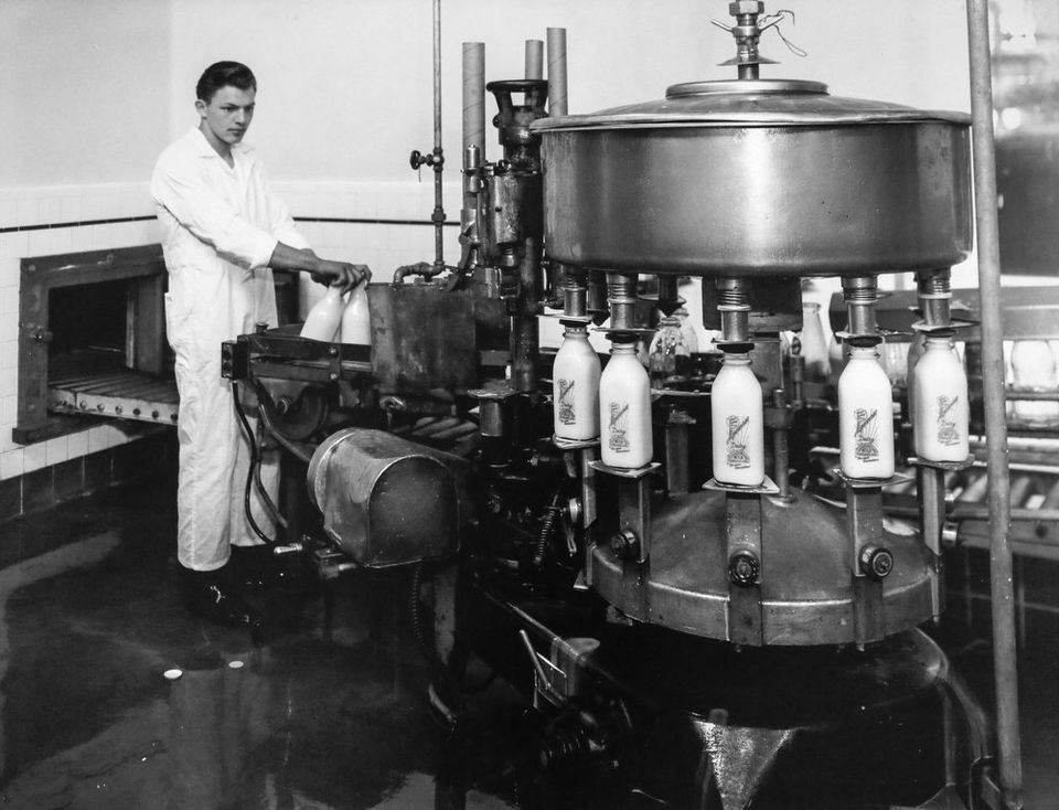 Alpenrose milk bottling