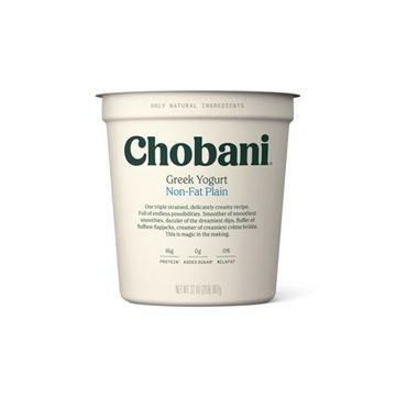 Chobani Plain Fat Free Greek Yogurt - 32 oz.