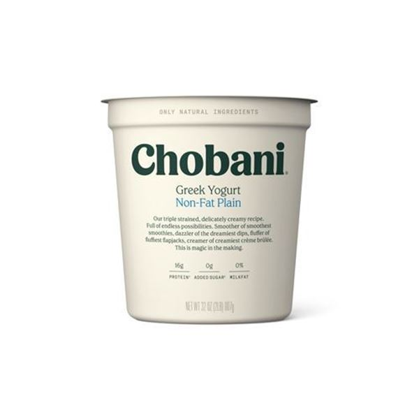 Chobani Plain Fat Free Greek Yogurt - 32 oz.