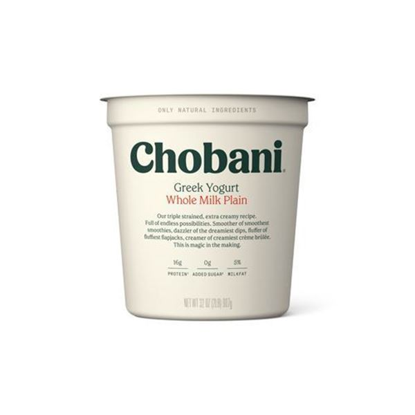 Chobani Plain 5% Greek Yogurt - 32 oz.