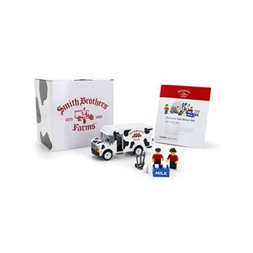 Smith Brothers Farms Milk Truck Building Block Set