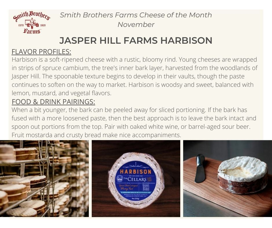 Harbison Cheese Pairing Notes