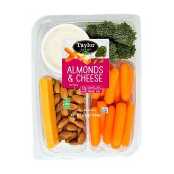 Taylor Farms Almonds & Cheese Snack Tray  — 6.5 oz.