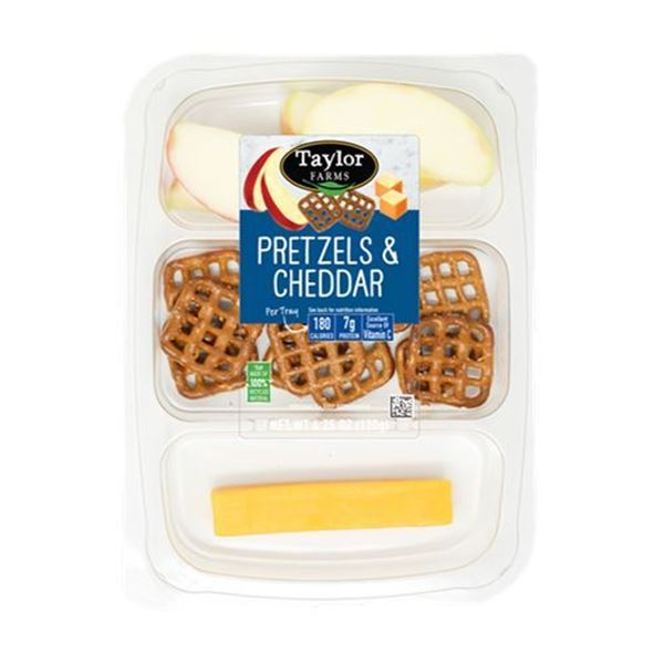 Taylor Farms Pretzels & Cheddar Snack Tray —  4.25 oz.