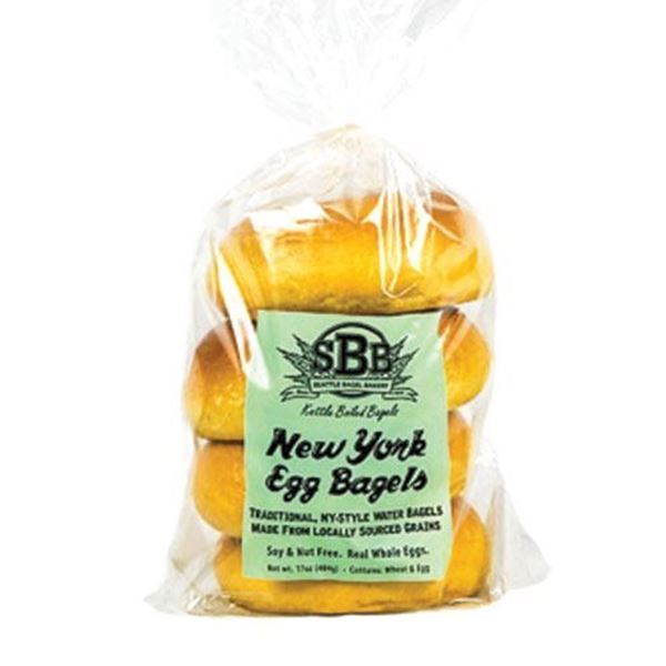 Seattle Bagel Bakery Egg Bagels - 4-pk