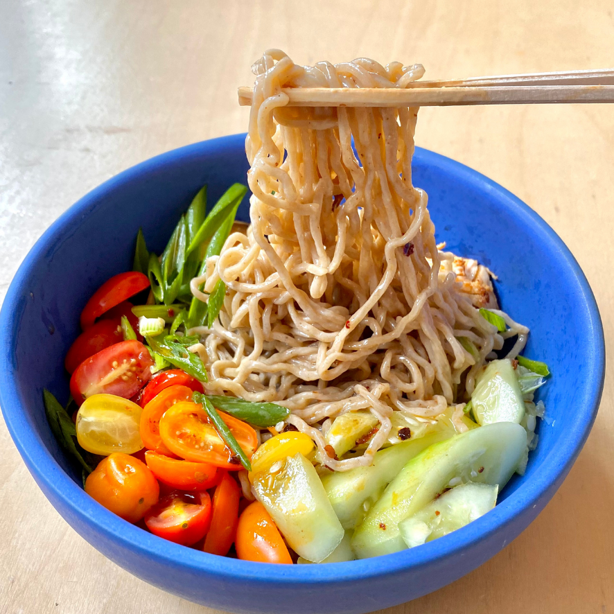 Umi Cold Noodle Salad Chicken, Tomato, and Cucumber