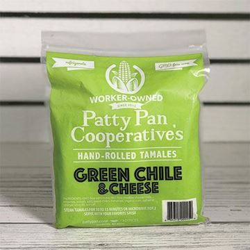 Patty Pan Cooperative Green Chile & Cheese Tamales – 3 ct.