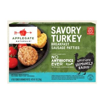 Applegate Naturals Savory Turkey Breakfast Sausage Patties - 7 oz.
