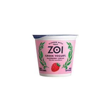 Zoi Greek Raspberry Cream Yogurt – 6 oz.