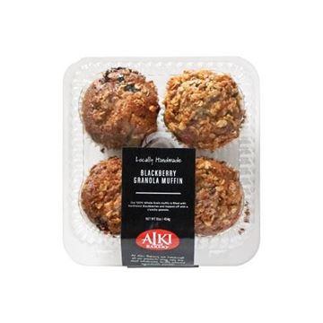 Alki Bakery Blackberry Granola  Muffins - 4-pk