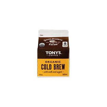 Tonys Organic Cold Brew Coffee + Milk - 10 oz.