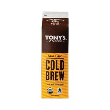 Tonys Organic Cold Brew Coffee + Milk - Quart